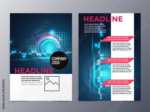 business and technology brochure design template vector trifold – Technology Brochure Template