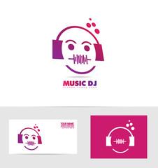 Music dj logo icon