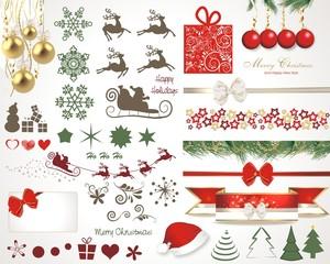 Christmas design elements, vector set