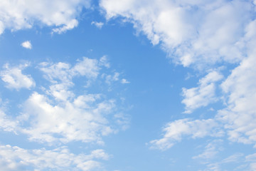 clouds in the blue sky background