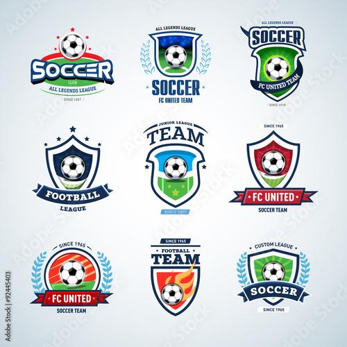 Soccer Logo Templates Mega Set Football Of Crests And