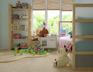 lonely childs room with unused toys - verlassenes Kinderzimmer