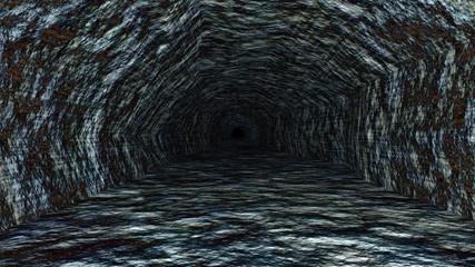 tunnel dark rock