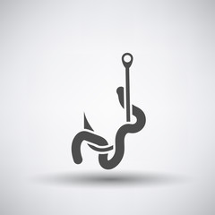 Worm on Hook  Icon