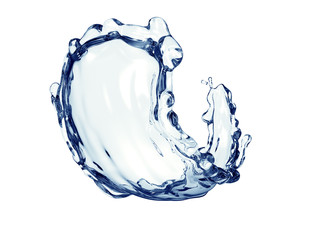 splash of water isolated on white with clipping path