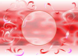 Red Circle Abstract Background