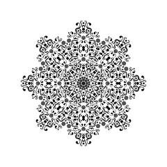 black round lace vector ornament