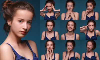 Collage of different expressions.