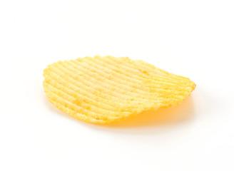 potato chips on white background