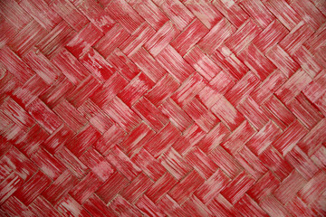 texture of the red wicker