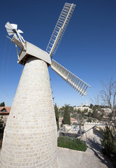 Jerusalem - The Montefiore Windmill build in year 1857