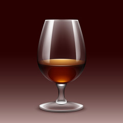 Wine Glass Vector Isolated Transparent