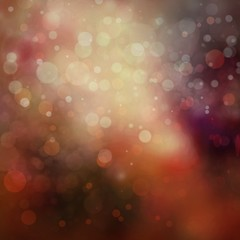 gold background with out of focus blurred bokeh lights on dark red background