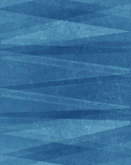 blue triangles on grunge textured background, abstract design