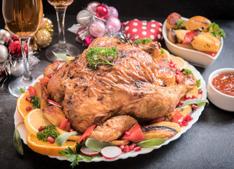 Split roasted turkey