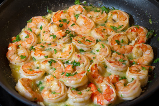 shrimp scampi sauteed in butter and garlic