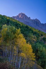 Morning light on Mt Sneffels, Ouray County, Colorado