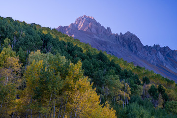 Sunrise on Mt Sneffels, Ouray County, Colorado