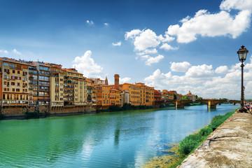 View of the Ponte Santa Trinita in Florence, Tuscany, Italy