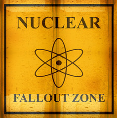 rusted nuclear fallout zone sign