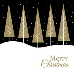 luxury christmas design with christmas tree suitable for your personal greeting card