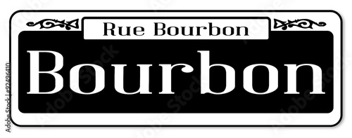 Rue Bourbon Street Sign Stock Image And Royalty Free Vector Files