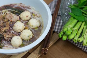 Tasty pork noodles Thailand