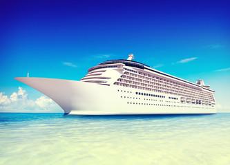 Cruise Vacation Travel Beach Summer Trip Sky Sea Concept