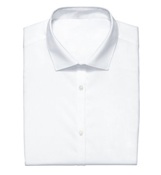 White shirt isolated on the white