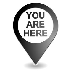 you are here on black symbol geolocation