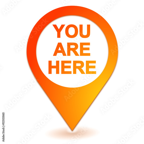 """you are here on geolocation orange symbol"" Stock image ..."
