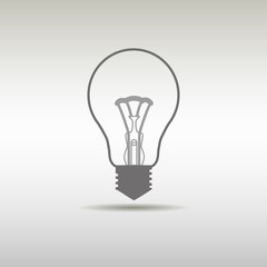 Light bulb icon, fresh idea, thinking, lamp. Clean and modern style design
