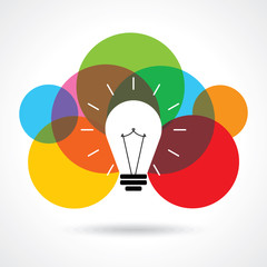 multicolor business idea vector