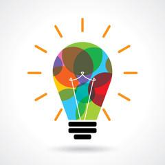 multicolor business idea vector