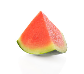 Sliced watermelon on white