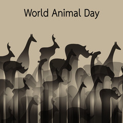 Vector image of an animal groups. Wildlife. World Animal Day