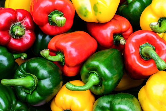Colorful sweet bell peppers