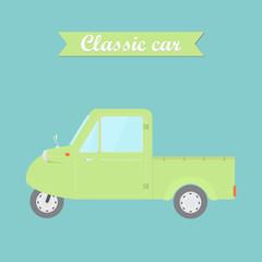 Cute classic pickup car