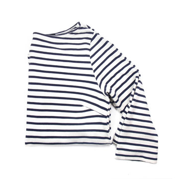 striped shirt on a white background