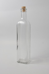 empty bottle on a white background