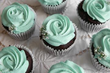 Homemade chocolate almond cupcake, keto, ketogenic, low carb diet, sugar free,  gluten free dessert