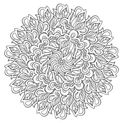 Circle ornament in ethnic style.