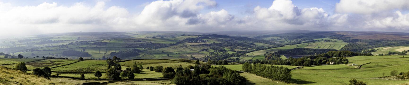 Panorama of Yorkshire countryside