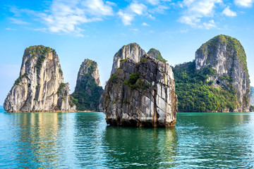 Beautiful scenery at Halong Bay, North Vietnam.