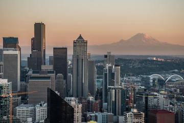 Seattle Skyline with Mount Rainier