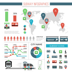 Subway Infographics Set