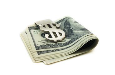 Stack of a hundred dollars bills