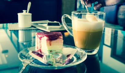 Milk tea with strawberry