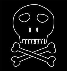 Skull and crossbones, mark of the danger warning