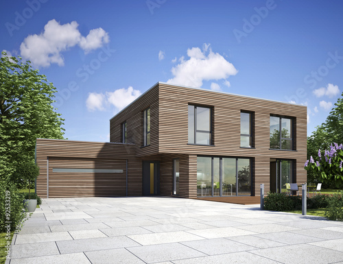 Haus Modern Holz Stock Photo And Royalty Free Images On Fotolia Com